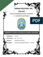 FUERZA DE FRICCIÓN EN LIQUIDOS VISCOSIDAD