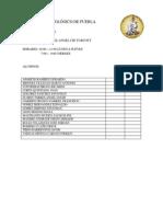 Lista de Alumnos