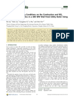 Effects of Air Staging Conditions on the Combustion and NO x Emission Ch