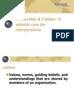 Leadership & Culture. 2011 (5)