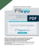 Comparte Archivos Por Internet Con Filevo