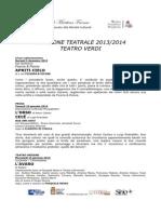 Cartellone Stagione Teatrale 2014