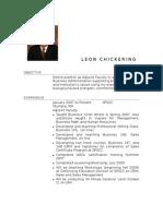Leon Chickering Resume August 2009 SPSCC