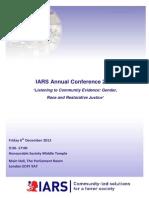 IARS. Annual Conference 2013 Agenda 06.12.2013