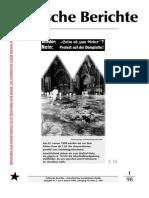 Politische Berichte Nr.1 / 1998