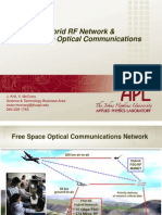 Hybrid RF Network and Free Space Optical Communications