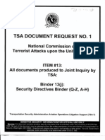 T7 B10 FAA Sds Fdr- TSA Doc Request 1 Response- Table of Contents- Withdrawal Notice- Document Index