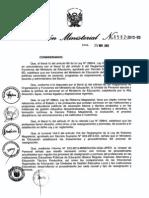 R.M. Nº 0582-2013-ED NORMA PARA REASIGNACIONES Y PERMUTA DE PROFESORES