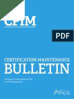 2014 Cpim Maintenance Bulletin to Print Docx