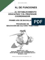 Manual Del Profesor Coordinador Para Primero de Bachillerato 2013-2014