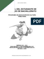 Manual Del Estudiante Para Segundo de Bachillerato 2013-2014