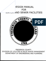 Design Manual for Water and Sewer Facilities