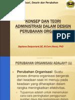 Konsep Dan Teori Administrasi Dalam Perubahan Organisasi - Tiana