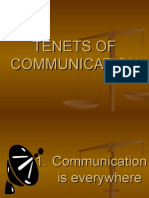 Tenets of Communication-2