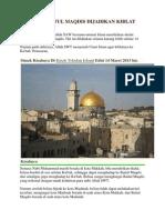 14 Tahun Baitul Maqdis Dijadikan Kiblat Umat Islam