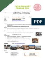 Charles University in Prague - Spring University Prague 2014