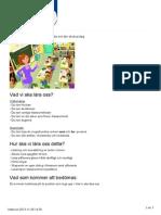 pedagogisk planering en skolvecka utskriven 2013-11-28