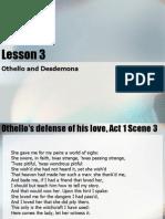Lesson 4 Othello and Desdemona