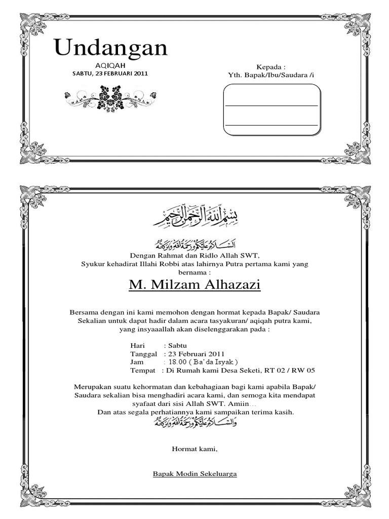 Download Ucapan Aqiqah Di Kotak Nasi Bisa Diedit Nusagates