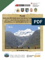 plan para incorporación CC Y GR en IG