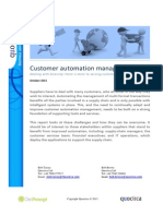 Customer automation management