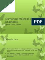 (1) Chapter 1 Error Analysis
