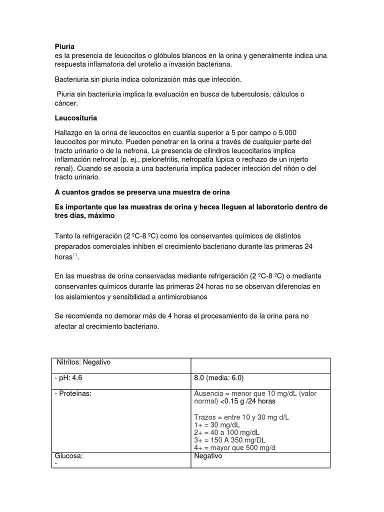 sedimento urinario leucocitos 4-6