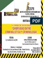 Cartel Congreso Criminologia