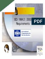 WQA IWA2 Requirements