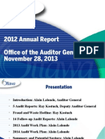 2012 AG Annual Report Presentation Nov 28 13