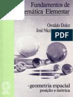 Vol 10 Geometria Espacial Completo Osvaldo Dolce Josc3a9 Nicolau Pompeu Geometria Espacial