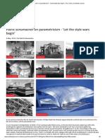 Patrik Schumacher on Parametricism - 'Let the Style Wars Begin' _ the Critics _ Architects Journal 2