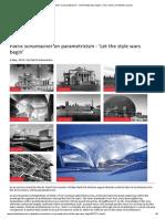 Patrik Schumacher on Parametricism - 'Let the Style Wars Begin' _ the Critics _ Architects Journal