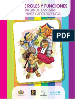 Guia de Roles y Funciones Para Las Defensorias de La Ninez y Adolescencia