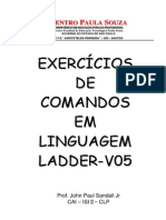 Exercício de comandos em Linguagem Ladder ETE V05