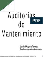 AUDITORÍA DEL MANTENIMIENTO