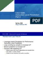 08 - Instruction Level Parallelism, Part  2.ppt
