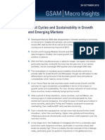 Credit Cycles and Sustainability in Growth