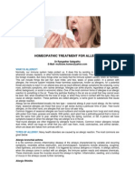 Homeopathic Treatment for Allergy