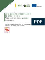 Guia Presentacion Proyectos Empleaverde 2014