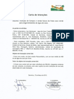 LOI between Greenwood Management and Tropical water in Brazil,