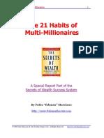 21 Habits of Multi Millionaires by Fabio Marciano