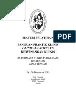 Dody Firmanda 2013 - Materi Pelatihan RS Permata Bunda Purwodadi Grobogan Jawa Tengah