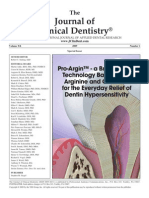 Journal of Clinical Dentistry Pro-Argin Special Issue 2009