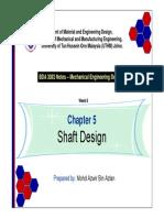 Chapter 5 - Shaft Design