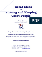 50 Great Ideas for Finding and Keeping Great People by Joe Tye