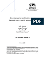 Determinants of FDI in Cambodia