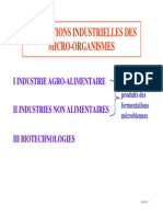 Utilisations Industrielles Des Microorganismes