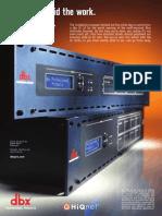 "dbx SC32/SC64 Digital Matrix Processors ""Go Home Early"" Magazine Ad"