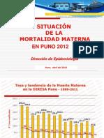 Muerte Materna - Diresa Puno (Se_15-2013) Abril 25